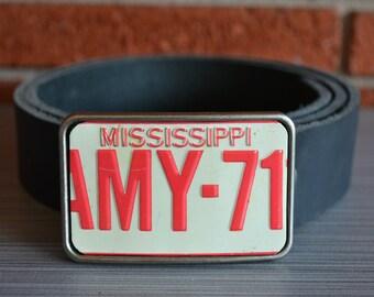Mississippi  License Plate Belt Buckle