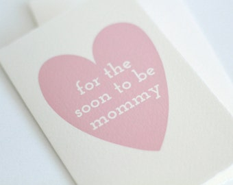 For the soon to be mommy // card for expecting mom  // card for a new mom // card for soon to be mom // baby shower card // new mom card //