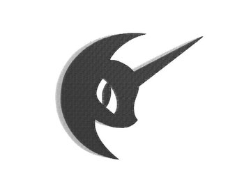 EMBROIDERY FILES: Nightmare Moon Emblem - Embroidery Machine Design