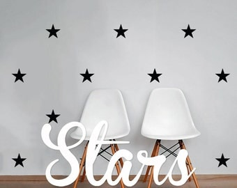 Stars Wall Decal Pack, Modern Geometric Pattern Vinyl Wall Stickers WAL-2167