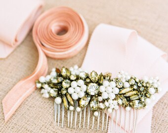 Wedding Hair Piece,Bridal Comb,Bridal Headpiece,Bronze Hair Comb,Headpiece,Wedding Accessories,Bronze Headpiece,Head Comb,Bronze Comb-MEGARA