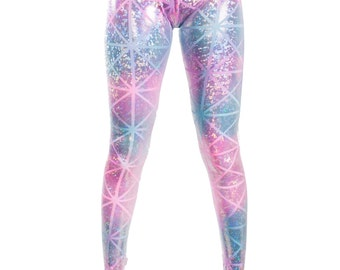 Cotton Candy Disco Leggings