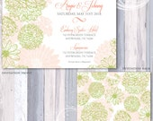 Tiny Petals Floral Invitation Suite