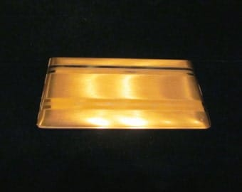 Vintage Elgin American Cigarette Case 1950s Gold Cigarette Case Vintage Business Card Case EXCELLENT CONDITION