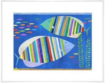 Tropical Fish Friends Art Print