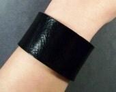 Black Leather Cuff-Cuff Bracelet-Leather Cuff-Bracelet-Womens Leather Bracelet-Leather Bracelet Blanks-Men's Bracelet-Leather Cuff Men-Gifts