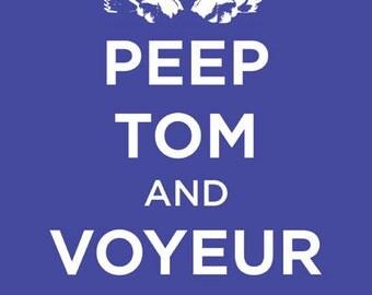 Peep Tom and Voyeur On, Digital Art Print