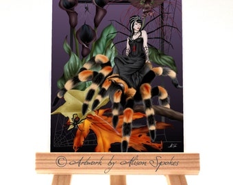 ACEO - The Weaver - Spider Fairy