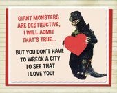 Valentines Day Card Monster Art Retro Valentine Vintage Card Geekery Alternate Histories