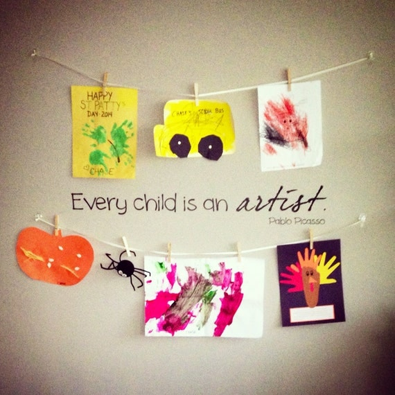 Every Child Is An Artist Pablo Picasso Wall Decal Play
