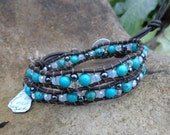 Hnadmade Leather Wrap Bracelet