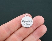 Awesome Nurse Stainless Steel Charm - Exclusive Line - Quantity Options  - BFS30