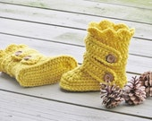 Crochet Pattern for Child's Boots, Kids Boots Crochet Pattern, Slipper Crochet Pattern,  Child's Classic Snow Boots