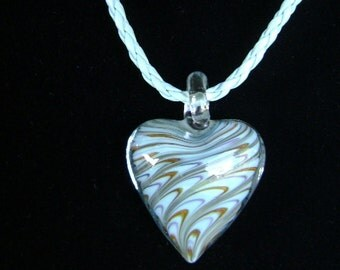 Gorgeous Lampwork Valentines Heart Pendant