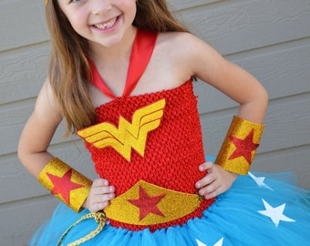 Deluxe Girls Wonder Woman Costume- Wonder Woman- Superhero costume- Girls Superhero - Superhero birthday - 1st birthday