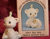 "1989 Precious Moments Birthday Club Bear- ""I Can't Bee Hive Myself Without You"" Members Only Figurine"