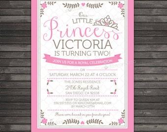 Princess Birthday Invitation Printable - Princess 1st Birthday Invitation - Princess Invitation - Princess Party - Princess Party Invitation