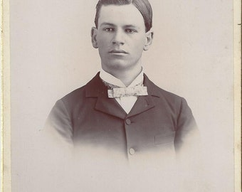 Unknown Photographer, Young Man Cabinet Card, 1875-1900