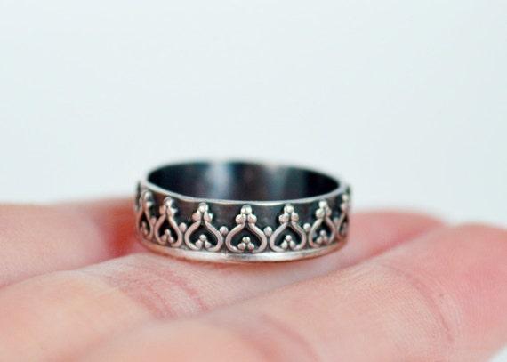 princess crown ring tiara ring wedding ring by designbygam