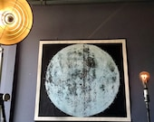 Very Large Moon Chart linen mounted ready to hang The largest and best silkscreen ever