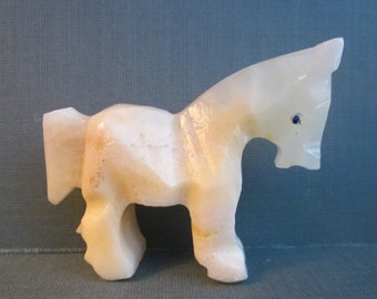 Carved Onyx Horse