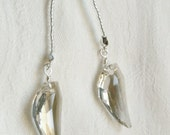 Angel Wing Crystal Lariat Necklace