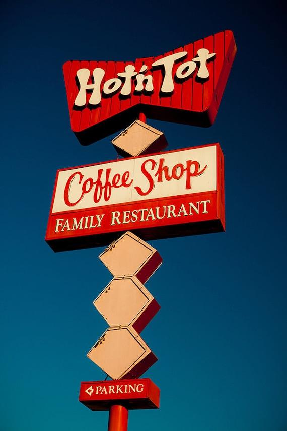 hot 'n tot coffee shop mid century modern decor retro
