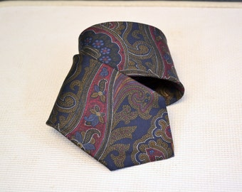 1980s Mallory & Church Silk Paisley Necktie