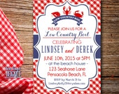Low Country Boil OR Crawfish Shrimp Crab Boil - Party Invitation - Digital Download Printable Invitation