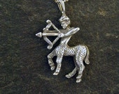 Special for Gabi Sterling Silver Sagittarius Archer Astrology Pendant wihtout Chain.