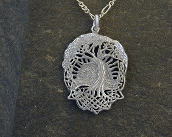 Sterling Silver Celtic Tree of Life Pendant on a Sterling Silver Chain