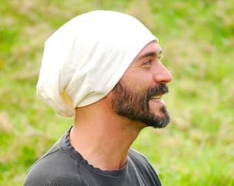 Eco  Friendly Men's Hat - Slouchy - Beanie - Unisex - Organic Cotton Hemp -  Organic Clothing