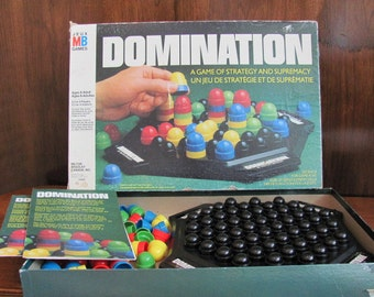 """Vintage """"Domination"""" - 1982 - Milton Bradley - Game Night - Family Games - ages 8 to adult - 80's Board Game"""