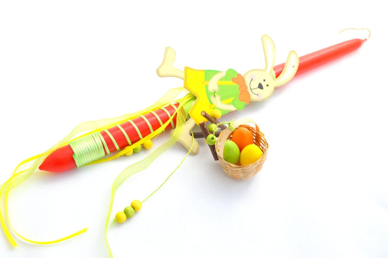 Bunny Lampada //Ladybug Greek Easter Candle // Easter Lampada.
