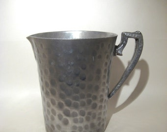 Hammered Aluminum Pitcher