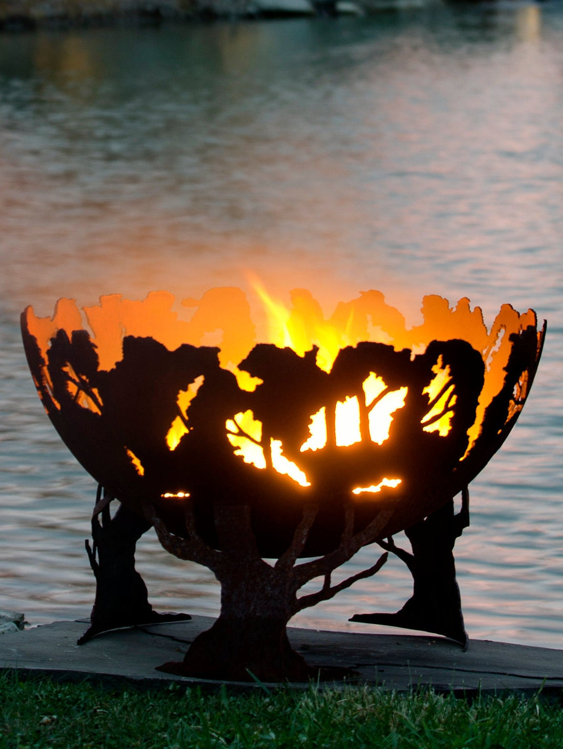 Forest Fire Tree Fire Pit Functional Art for your backyard