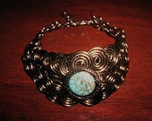 Turquoise Bronze Egyptian Bracelet
