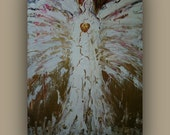 Angel of Divine Healing Original Abstract Painting on Streched Canvas by Alma Yamazaki