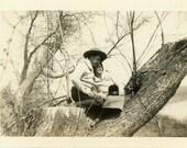 """Vintage Photo """"Woodland Sweethearts"""" Affectionate Couple Snapshot Photo Old Photo Black & White Photograph Found Photo Paper Ephemera - 07"""