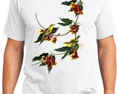 Rathbone Warbler Bird Retro Men & Ladies T-shirt - Gift for Bird Lovers and Ornithologist (idc065)