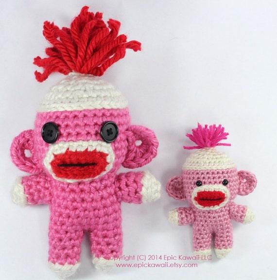 Free Pattern Amigurumi My Little Pony : Items similar to PATTERN: Sock Monkey Cutie Crochet ...