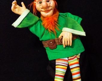 Leprechaun / Elf / Pixie professional glove style hand puppet
