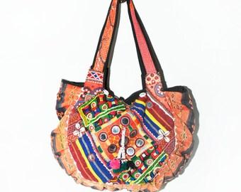 Vintage Banjara Textile TOTE, Embroidered Ethnic Bag