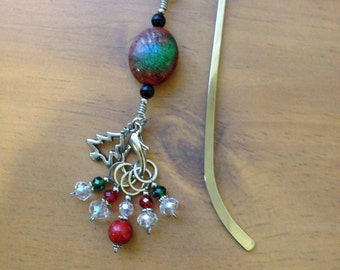 Knitting Stitch Marker Book Mark, Holiday Gift, Knitting Gift, Knitting Supplies