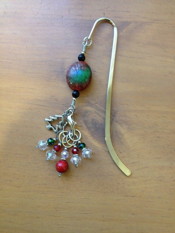 Knitting Pattern For A Book Marker : Knitting Stitch Marker Book Mark Holiday Gift Knitting Gift