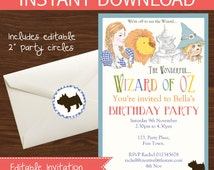 Wizard of Oz Invitation DIY Printable Kit - INSTANT DOWNLOAD -