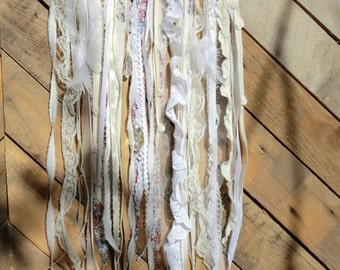 Funky Shabby Chic Handcrafted Swag/ Garland/ Flag/ Wall Hanging