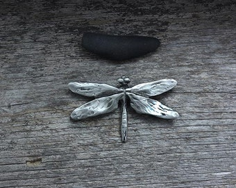Dragonfly Brooch in silver pewter
