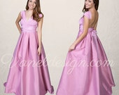 Prom Dress, Convertible Dress Custom Made in 50 Colors, Dusty Rose