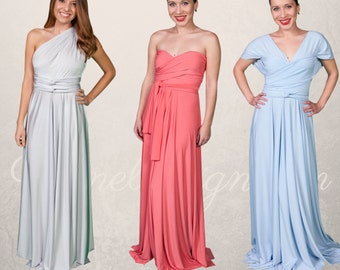 Convertible Bridesmaid Dress - Long Formal Infinity Convertible Dress - Custom Made - Over 50 Colors Available, Endless Ways to Wear